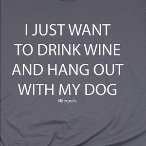 I just want to drink wine with my dog